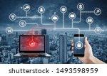 internet and online data... | Shutterstock . vector #1493598959
