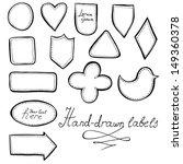 hand drawn labels set | Shutterstock .eps vector #149360378