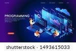 programming web banner. best... | Shutterstock .eps vector #1493615033