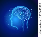 neural network. deep learning.... | Shutterstock .eps vector #1493615123
