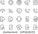 set of phone icons | Shutterstock .eps vector #1493618153