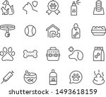 Stock vector set of pet icons 1493618159