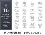 artificial intelligence line... | Shutterstock .eps vector #1493624363