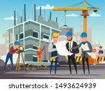 building under construction...   Shutterstock .eps vector #1493624939