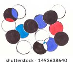 drawing with watercolors ... | Shutterstock . vector #1493638640