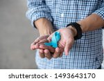 november prostate cancer... | Shutterstock . vector #1493643170