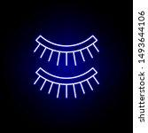 eyelashes line neon icon....