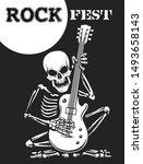 rock festival black and white... | Shutterstock .eps vector #1493658143