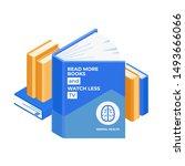 books pile isometric design... | Shutterstock .eps vector #1493666066