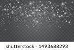 vector heavy snowfall ... | Shutterstock .eps vector #1493688293