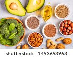 vegan sources of omega 3 and... | Shutterstock . vector #1493693963