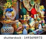erice  italy   aug 2016 ... | Shutterstock . vector #1493698973