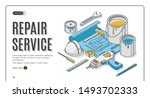 repair service isometric... | Shutterstock .eps vector #1493702333