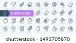 super food   thin line icon set ... | Shutterstock .eps vector #1493705870
