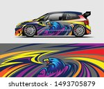 car wrap  decal  vinyl sticker... | Shutterstock .eps vector #1493705879
