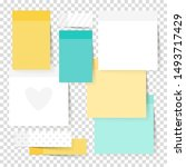 colored note stickers set.... | Shutterstock .eps vector #1493717429