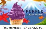delicious purple sweet potato... | Shutterstock .eps vector #1493732750