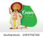 Stock vector beautiful header of illustration for south indian festival happy onam background for race snake 1493746760