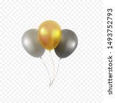 balloons bunch isolated on... | Shutterstock .eps vector #1493752793