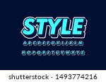 modern 3d font and alphabet for ... | Shutterstock .eps vector #1493774216