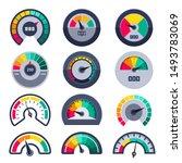 speedometers symbols. indicate...