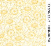 Sunflower Seamless Pattern....