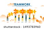 business concept with puzzle....