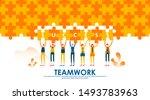 business teamwork concept...