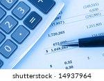 calculator on financial... | Shutterstock . vector #14937964