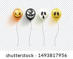 halloween balloons isolated on... | Shutterstock .eps vector #1493817956