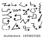 doodle set of abstract line... | Shutterstock .eps vector #1493825183