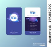 modern blue business card... | Shutterstock .eps vector #1493852900