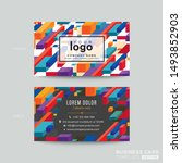 business card design with... | Shutterstock .eps vector #1493852903