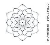 petals flower mandala line art... | Shutterstock .eps vector #1493854670