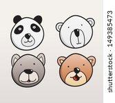 set of cute bear faces | Shutterstock .eps vector #149385473