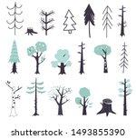 vector set of children's... | Shutterstock .eps vector #1493855390
