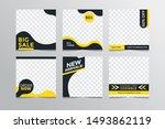 set modern square editable...   Shutterstock .eps vector #1493862119
