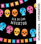 day of the dead  dia de los... | Shutterstock .eps vector #1493868530