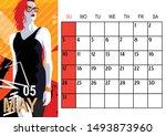 May. 2020 Calendar With Fashio...