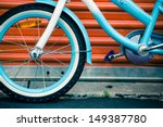 Bicycle Against Orange Metal...