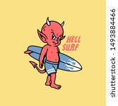 Hell Surf Devil Baby With Surf...