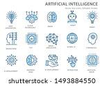 artificial intelligence line... | Shutterstock .eps vector #1493884550