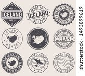 iceland travel stamp made in... | Shutterstock .eps vector #1493899619