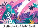 tropical abstract background ... | Shutterstock .eps vector #1493911550