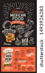 mexican menu template for... | Shutterstock .eps vector #1493926283