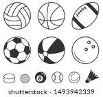 sport balls vector icons ... | Shutterstock .eps vector #1493942339
