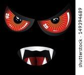 danger evil face with red eyes... | Shutterstock .eps vector #149394689