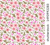 cute floral pattern in the...   Shutterstock .eps vector #1493992283