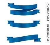 blue ribbons set.vector ribbon... | Shutterstock .eps vector #1493998640