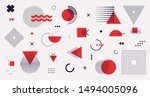 memphis design elements mega... | Shutterstock .eps vector #1494005096
